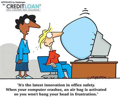 Office Safety cartoon! | Computer jokes, Computer humor ...