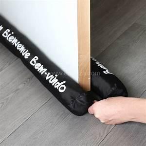 Coussin Bas De Porte : coussin bas de porte double bourrelet noir brillant ~ Melissatoandfro.com Idées de Décoration