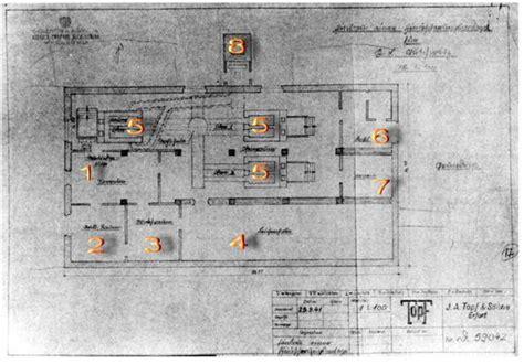 le problème des chambres à gaz plan d une chambre à gaz et de crématoire firme topf und
