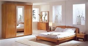 chambre coucher bois massif double durable moderne With les chambre a coucher en bois