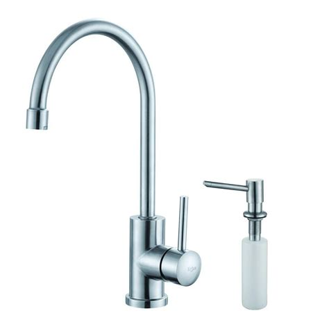 restaurant kitchen faucet kraus single handle stainless steel kitchen bar faucet