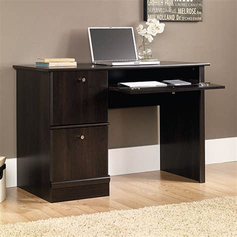 sauder computer desks on sale sauder computer desk cinnamon cherry boscov 39 s