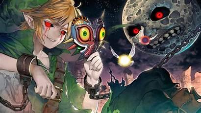 Zelda Legend Mask Link Games Majora Majoras