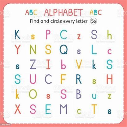 Letter Worksheet Preschool Circle Kindergarten Exercises Children