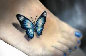 32+ Black Butterfly Tattoos On Foot
