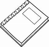 Notebook Spiral Clip Clipart Clker sketch template