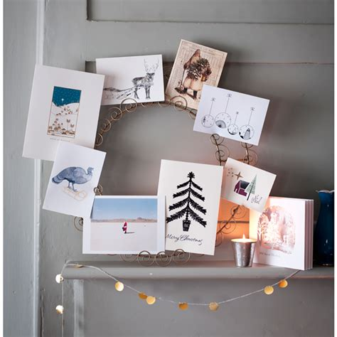 how to display cards at home ways to display your christmas cards ideal home