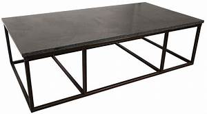 noir stone coffee table with metal large With large stone coffee table