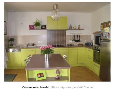deco cuisine marron cuisine vert anis et marron