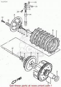 Suzuki Gn125 1997  V   E01 E02 E04 E18 E21 E22  Clutch