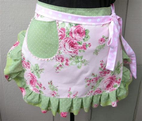 shabby fabrics apron womens aprons pink roses aprons shabby chic oink aprons pink and green aprons annies