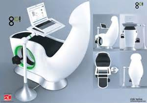 sit down and go exercise bike powered laptop desk