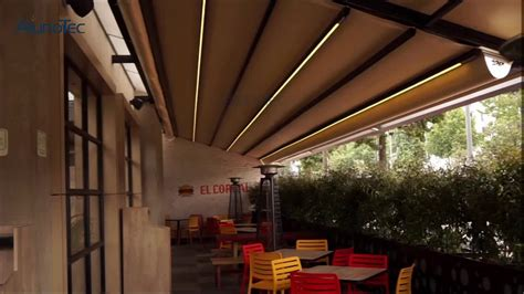 retractable awnings remote control switch sliding roof gazebo  led lights buy sliding roof