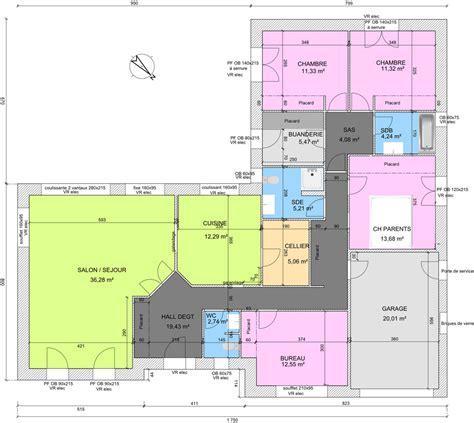 plan maison plain pied 2 chambres avis sur plan de plain pied 4 chambres de 145m 18 messages