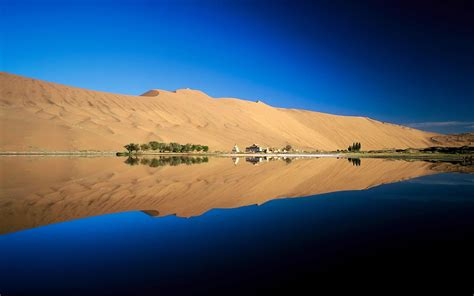 Desert Sky Nature Reflection Landscape Wallpapers Hd