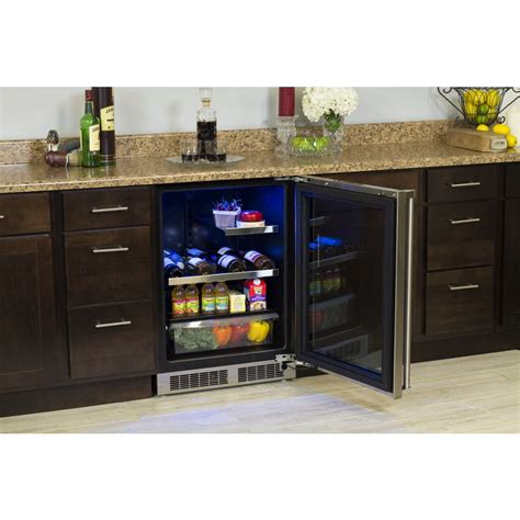 under cabinet beverage cooler mp24brg3rs marvel professional 24 quot food wine and