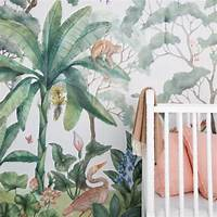 trending jungle wall mural Restaurant Trend: Modern Tropical Wallpaper Patterns Are Everywhere - Eater