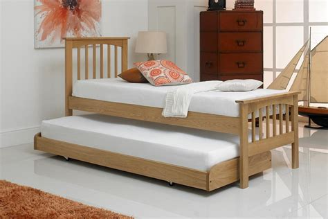 Small Single Bed by Heywood Solid Oak Guest Bed 2ft6 Small Single The Oak