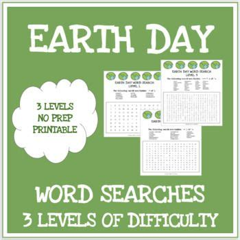 earth day  word searches  levels  images esl
