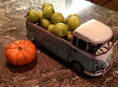volkswagen thanksgiving vintage vw truck delivering apples fall decor
