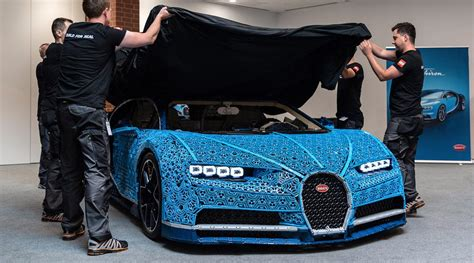 full size lego bugatti chiron    driven