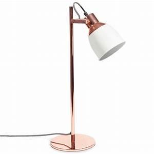 Lampe De Bureau Fille : lampe bicolore en m tal cuivr h 50 cm cathy maisons du ~ Melissatoandfro.com Idées de Décoration