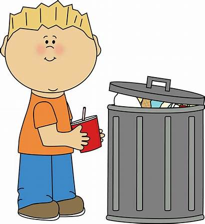 Trash Clipart Picking Clip Kid Garbage Pick