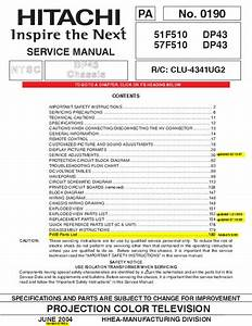 Service Manual   Hitachi 51f510 51f510 Part1 Rar  181 Page