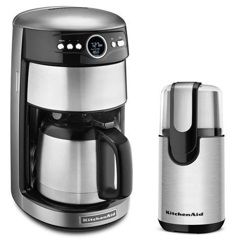 Kitchenaid Coffee Maker And Grinder Pack Silver