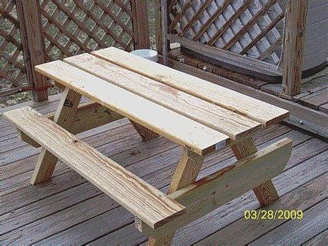 build  kids picnic table plans hunker