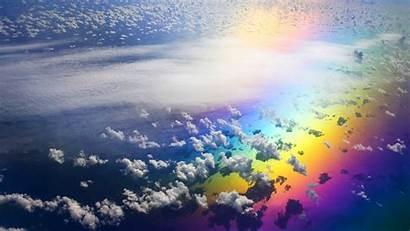 Rainbow Clouds Wallpapers Cloud Sky Backgrounds Between