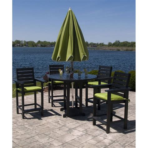 outdoor counter height arm chair polywood weatherproof