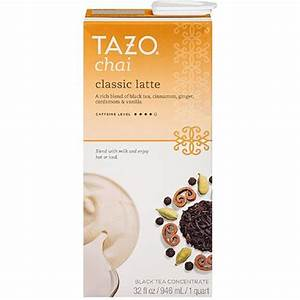 $1.50 Tazo Chai Tea Coupon (organic latte concentrate $1.48)