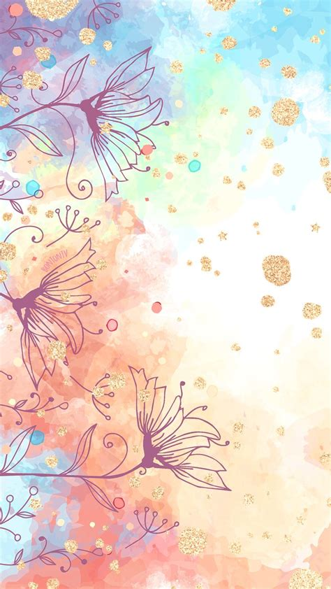 Download these beautiful watercolor wallpapers on your iphone, ipad, or computer. Phone Wallpapers HD Watercolor Gold - by BonTon TV - Free ...