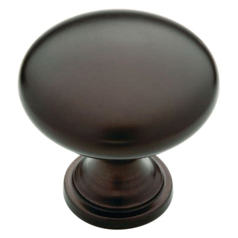 liberty 1 1 4 in rubbed bronze hollow cabinet