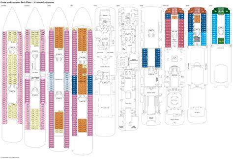 costa neoromantica deck plans diagrams pictures