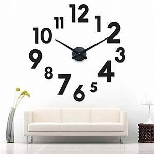 Riesen Wanduhr Xxl : xxl 3d schwarze riesen designer wanduhr wohnzimmer dekoration wandtatoo aus acryl 1 redidoplanet ~ Eleganceandgraceweddings.com Haus und Dekorationen
