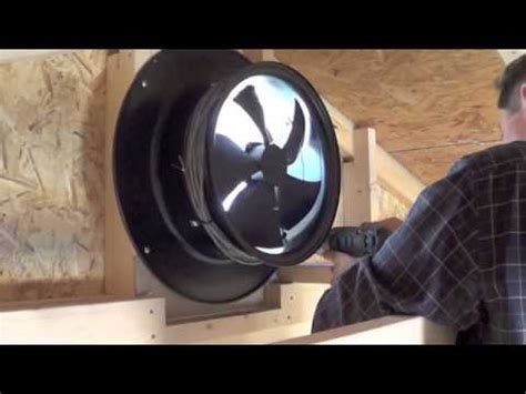 small whole house fan yellowblue solar gable fan install video youtube