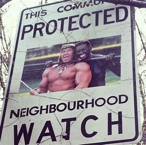 Neighbourhood Watch – A street artist has fun hijacking