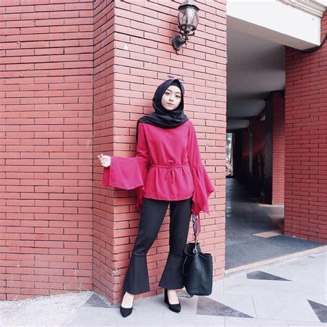 model outfit baju blouse ala selebgram terbaik model