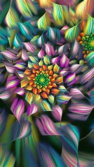 Abstract flower, colorful petals Wallpaper | 1280x1024 ...