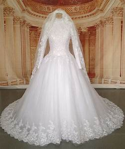 real pictures long sleeve hijab muslim wedding dress with With muslim wedding dresses 2017