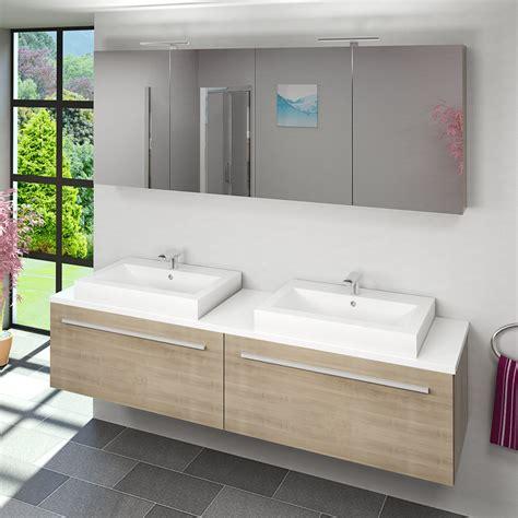 Badezimmer Unterschrank Für 2 Waschbecken by Waschtisch Mit Waschbecken Unterschrank City 200 200cm