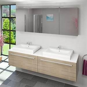 Badezimmer Waschtisch Mit Unterschrank : waschtisch mit waschbecken unterschrank city 200 200cm eiche hell ebay ~ Bigdaddyawards.com Haus und Dekorationen