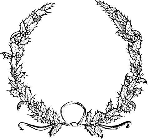 holly christmas wreath  vector graphic  pixabay