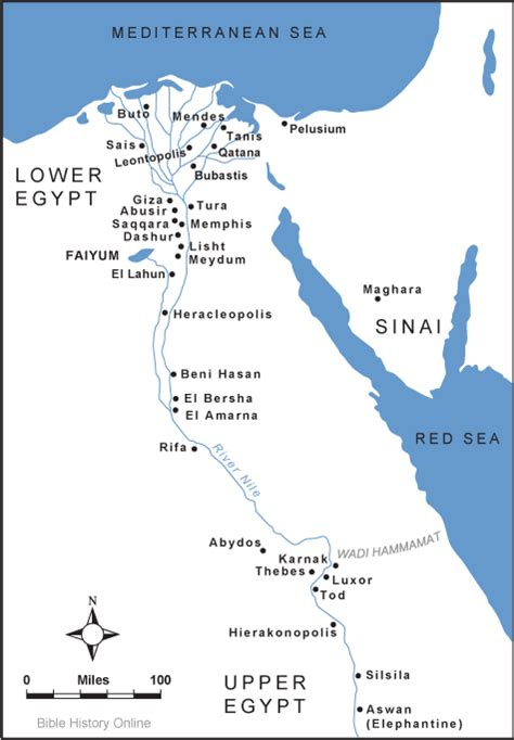 map  ancient egypt cities
