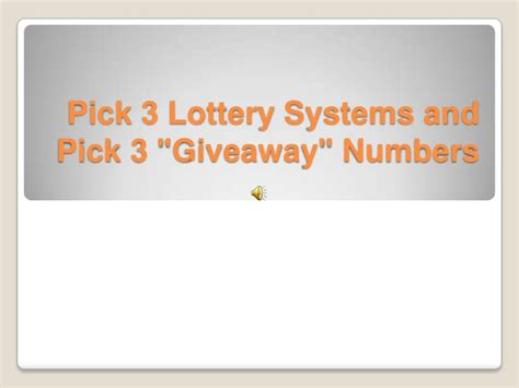 Pick 3 cobra lottery system
