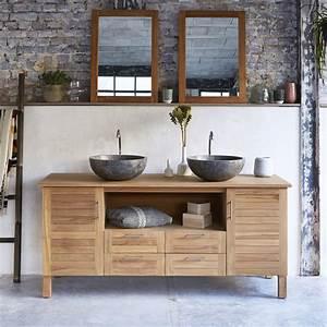 meuble salle de bain en teck soho xl meuble sous vasque With meuble salle de bain imitation teck