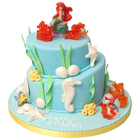 mermaid topsy turvy birthday cake