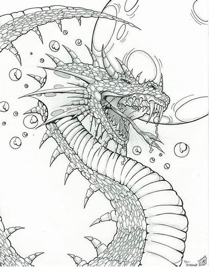 Coloring Dragon Pages Fantasy Dragons Adult Colouring